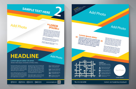 a4: Brochure design a4 template. illustration Illustration