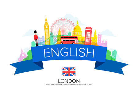 England Travel, london Travel, Landmarks. Illustration