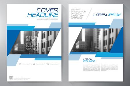 Zakelijke brochure design a4 sjabloon. Stock Illustratie