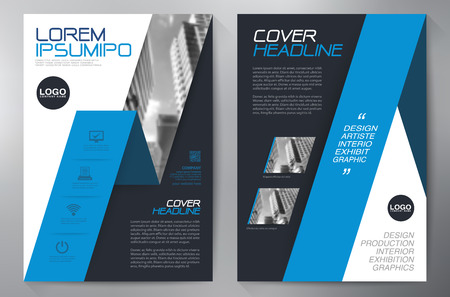 leaflets: Business brochure design a4 template