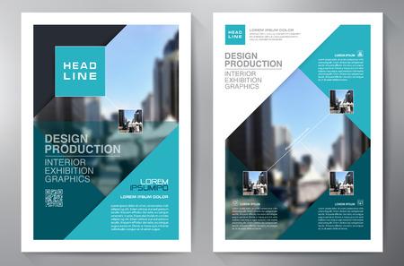 Zakelijke brochure flyer ontwerp a4 sjabloon. vector illustratie