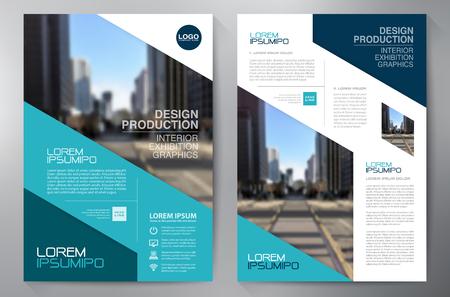 Business brochure flyer design a4 template. Vector illustration Reklamní fotografie - 59728388