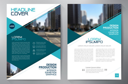leaflets: Business brochure flyer design a4 template. Vector illustration