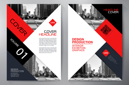 Business-Broschüre Flyer Design-a4-Vorlage. Vektor-Illustration Standard-Bild - 59728624