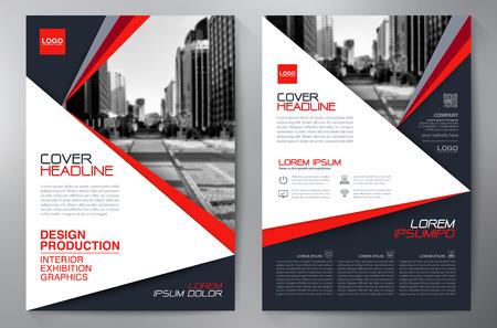 brochure: negocios folleto plantilla de volante de diseño a4. ilustración vectorial