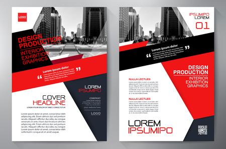 biznes broszura szablon ulotki projektowanie a4. ilustracji wektorowych Ilustracje wektorowe