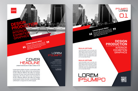 poster: Business brochure flyer design a4 template. Vector illustration