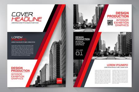 ビジネス パンフレット チラシ デザイン a4 テンプレートです。ベクトル図  イラスト・ベクター素材