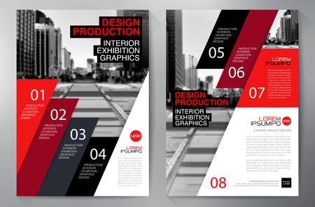 brochure Affari volantino modello di progettazione A4. illustrazione di vettore Vettoriali