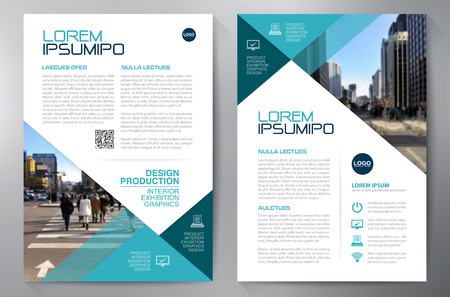 brochure Affari modello di progettazione a4 Vettoriali