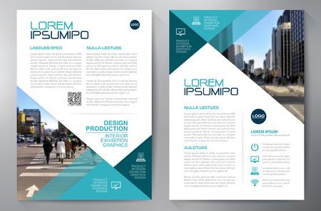 Business brochure design a4 template Vetores