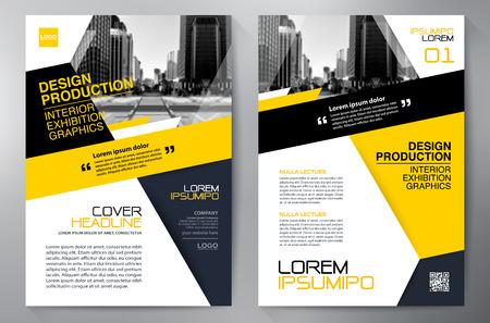ビジネス パンフレット デザイン a4 テンプレートです。  イラスト・ベクター素材