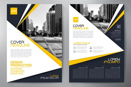 brochure Affari modello di progettazione A4.