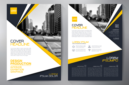 Business brochure design a4 template.