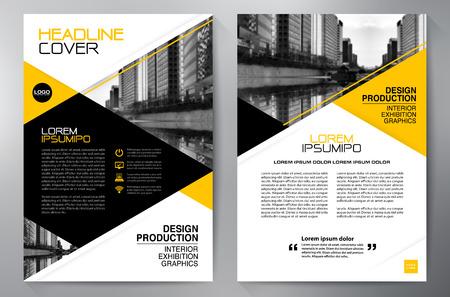 headline: Business brochure design a4 template