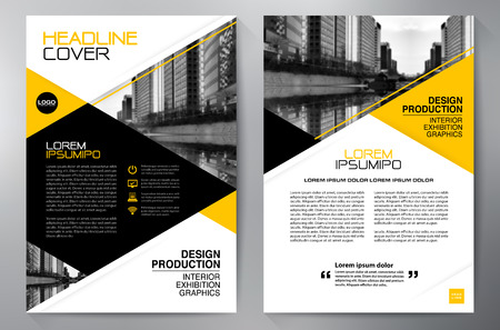 Zakelijke brochure design a4 template