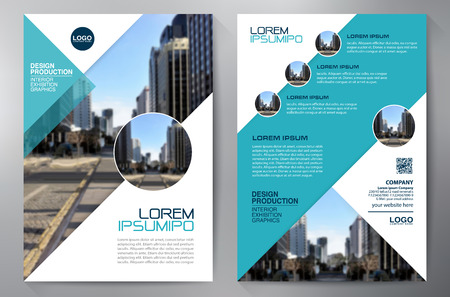 sales book: Business brochure design a4 template