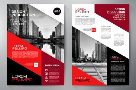blatt: Business-Broschüre Design a4 Vorlage Illustration