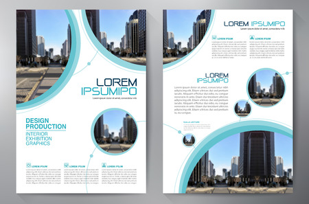 Business brochure flyer design a4 template. Vector illustration