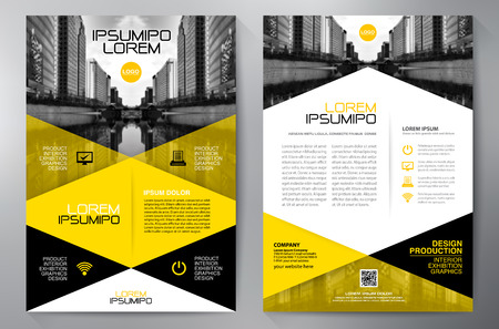 Business brochure flyer design a4 template. Vector illustration Reklamní fotografie - 62267725