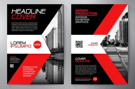 blatt: Business-Broschüre Flyer Design-a4-Vorlage. Vektor-Illustration Illustration