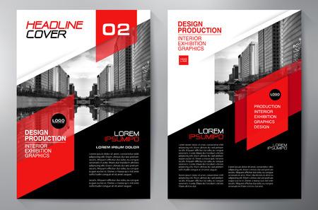 Zakelijke brochure flyer ontwerp a4 sjabloon. vector illustratie Stockfoto - 62267734