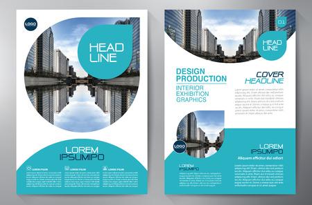 brochure Affari volantino modello di progettazione A4. illustrazione di vettore