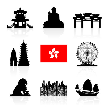 history icon: Hong Kong Travel Landmarks