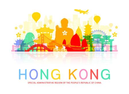 Hong Kong Travel Landmarks Фото со стока - 63443835