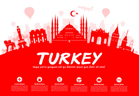 Turkey Travel Landmarks.