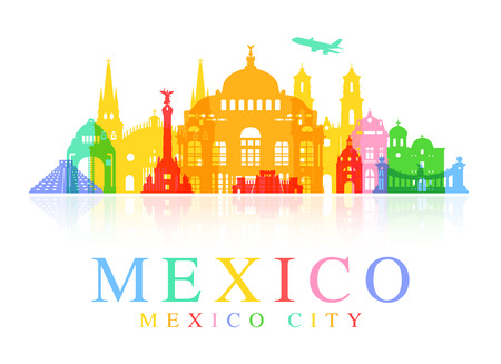 monumento: Señales de viajes a México Vectores