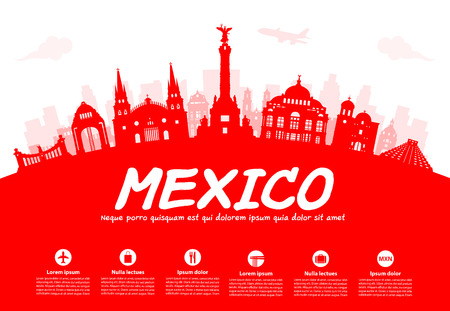 city buildings: Mexico Travel Landmarks