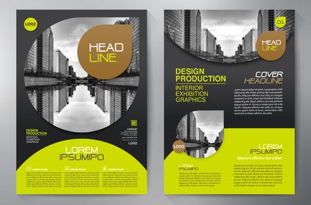 a4 plantilla de diseño del folleto del asunto Ilustración de vector