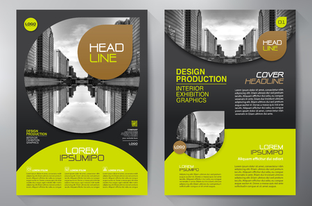 biznes broszura szablon projektu a4 Ilustracje wektorowe
