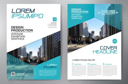 Business-Broschüre Design a4 Vorlage Standard-Bild - 63444393