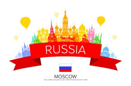 Russia Travel Landmarks  イラスト・ベクター素材
