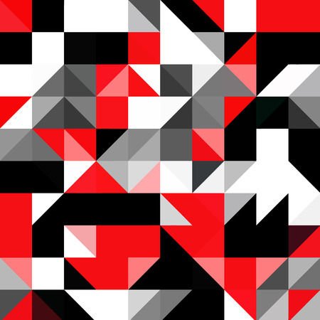 squares background: Triangle geometric shapes. Seamless Pattern