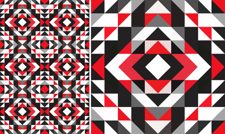 pattern of geometric shapes: Triangle geometric shapes. Seamless Pattern