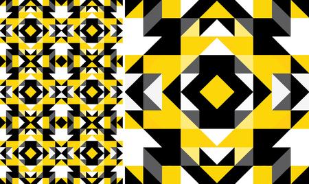 triangle pattern: Triangle geometric shapes. Seamless Pattern
