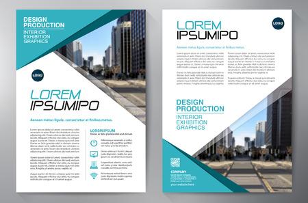 Brochure business. Volantino Design. Volantini a4 modello. Copertina del libro e Magzine. illustrazione vettoriale Relazione annuale