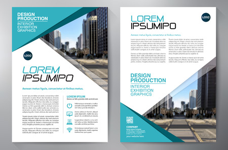 leaflets: Business Brochure. Flyer Design. Leaflets a4 Template. Cover Book and Magzine. Annual Report Vector illustration