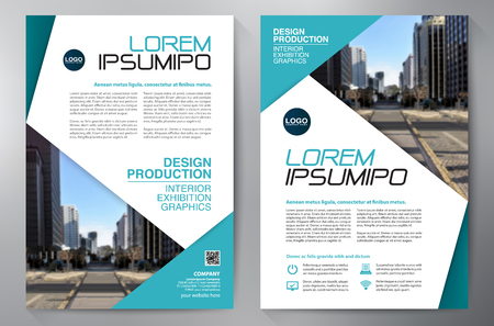 leaflets: Business Brochure. Design. Leaflets a4 Template. Cover Book and Magzine. Annual Report Vector illustration