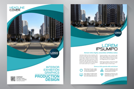 Business Brochure. Design. Leaflets a4 Template. Cover Book and Magzine. Annual Report Vector illustration