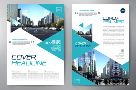 Business Brochure. Flyer Design. Leaflets a4 Template. Cover Book and Magazine. Annual Report Vector illustration Фото со стока - 71454435