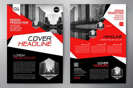 leaflets: Business Brochure. Flyer Design. Leaflets a4 Template. Cover Book and Magazine. Annual Report Vector illustration