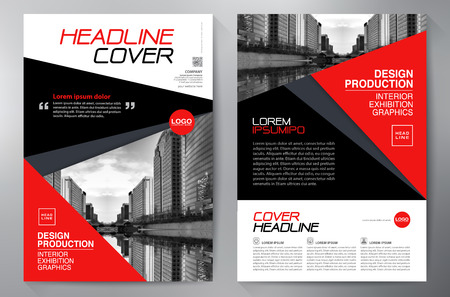magazine template: Business Brochure. Flyer Design. Leaflets a4 Template. Cover Book and Magazine. Annual Report Vector illustration