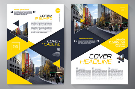 template: Business Brochure. Flyer Design. Leaflets a4 Template. Cover Book and Magazine. Annual Report Vector illustration