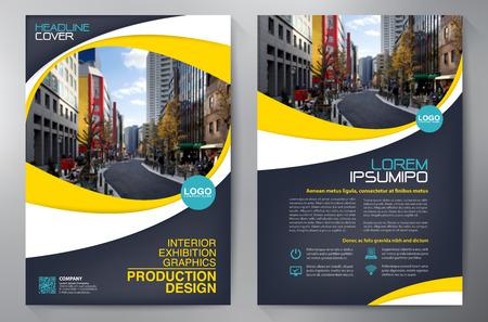 El folleto del asunto. Diseño Flyer. Folletos a4 plantilla. Cubierta del libro y la revista. ilustración vectorial Informe Anual Ilustración de vector