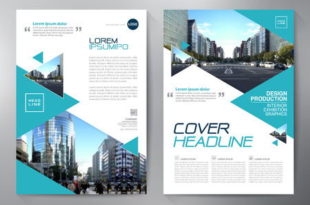 magazine design: Business Brochure. Flyer Design. Leaflets a4 Template. Cover Book and Magazine. Annual Report Vector illustration