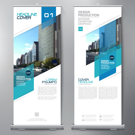 Business Roll Up. Standee Design. Banner Template. Presentation and Brochure Flyer. Vector illustration 向量圖像